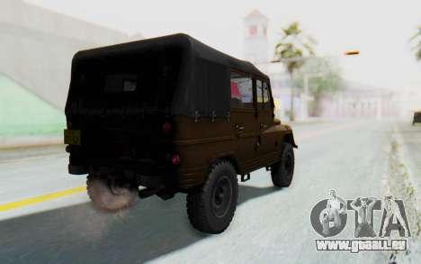 UAZ-460Б FIV pour GTA San Andreas laissé vue