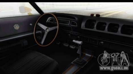 Mercury Cyclone Spoiler 1970 IVF pour GTA San Andreas vue intérieure