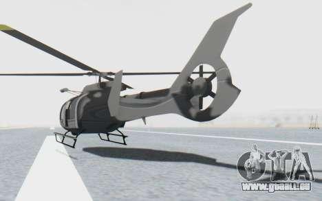 GTA 5 Maibatsu Frogger Civilian IVF für GTA San Andreas zurück linke Ansicht