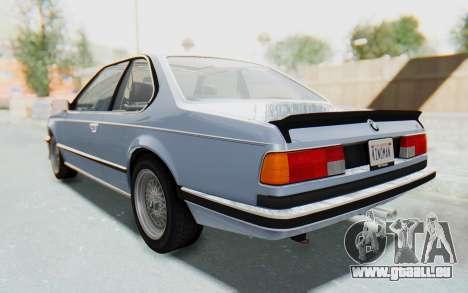 BMW M635 CSi (E24) 1984 IVF PJ1 pour GTA San Andreas sur la vue arrière gauche