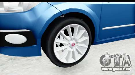 Fiat Linea 2014 Wheels pour GTA San Andreas vue arrière