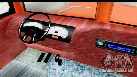 Dodge D600 v2 Bus pour GTA San Andreas vue intérieure