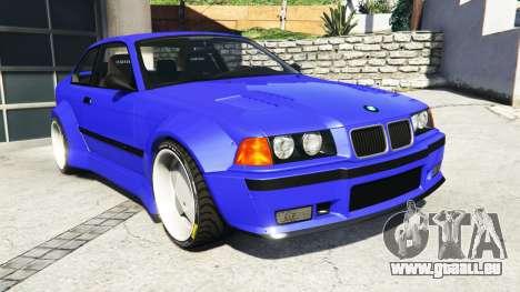 BMW M3 (E36) Street Custom [blue dials] v1.1 pour GTA 5