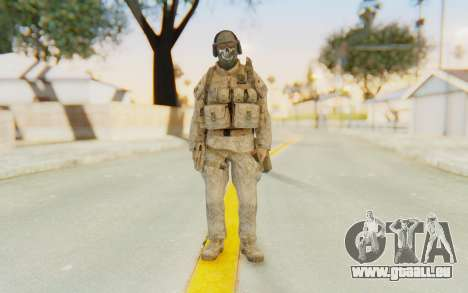 CoD MW2 Ghost Model v5 für GTA San Andreas zweiten Screenshot