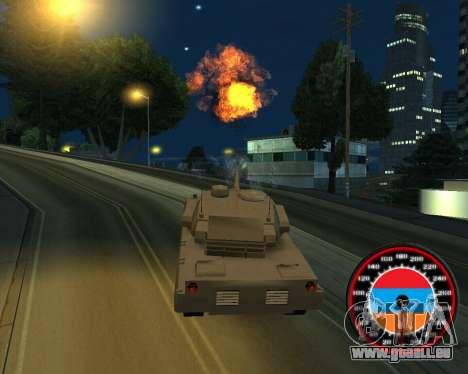 Der Tacho im Stil der Armenischen Flagge für GTA San Andreas her Screenshot