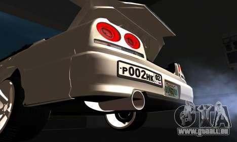 Nissan Skyline ER34 GT-R pour GTA San Andreas vue intérieure