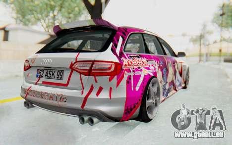 Audi S4 Avant Yurippe Angel Beats Itasha für GTA San Andreas rechten Ansicht