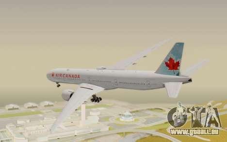 Boeing 777-300ER Air Canada für GTA San Andreas linke Ansicht