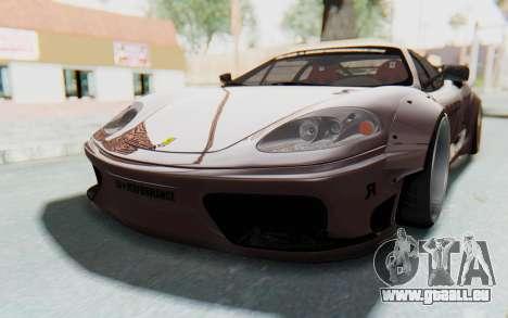 Ferrari 360 Modena Liberty Walk LB Perfomance v1 für GTA San Andreas Rückansicht