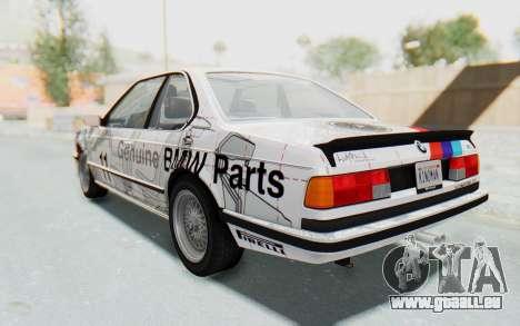 BMW M635 CSi (E24) 1984 IVF PJ1 pour GTA San Andreas
