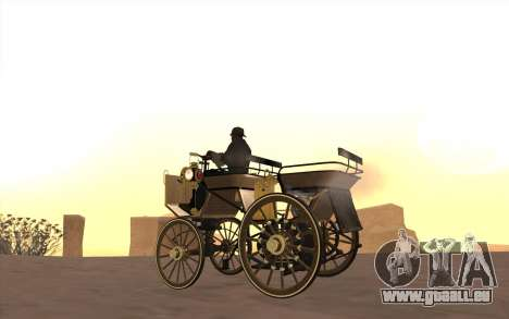 Mercedes-Benz Daimler 1886 für GTA San Andreas zurück linke Ansicht