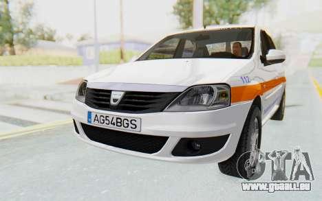 Dacia Logan Facelift Ambulanta für GTA San Andreas rechten Ansicht