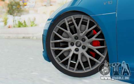 Audi R8 V10 2017 v2.0 pour GTA San Andreas sur la vue arrière gauche