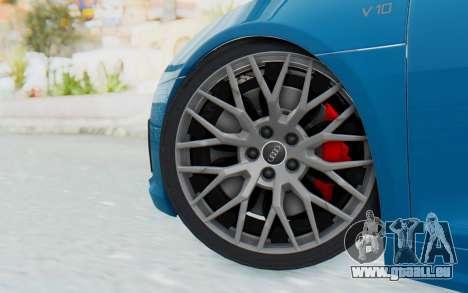 Audi R8 V10 2017 v2.0 für GTA San Andreas zurück linke Ansicht