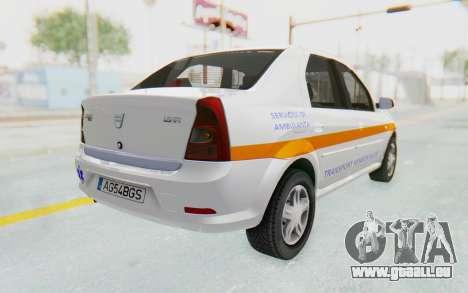 Dacia Logan Facelift Ambulanta pour GTA San Andreas laissé vue