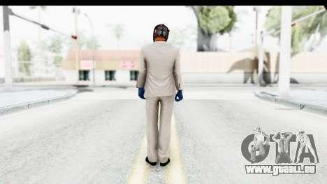 Payday 2 - Jiro with Mask pour GTA San Andreas troisième écran