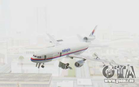 DC-10-30 Malaysia Airlines (Old Livery) für GTA San Andreas zurück linke Ansicht
