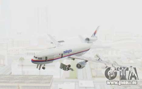 DC-10-30 Malaysia Airlines (Old Livery) pour GTA San Andreas sur la vue arrière gauche