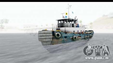 GTA 5 Buckingham Tug Boat v1 IVF für GTA San Andreas rechten Ansicht