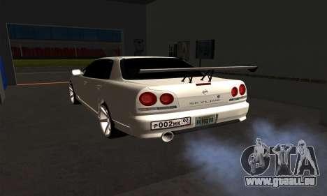 Nissan Skyline ER34 GT-R pour GTA San Andreas laissé vue