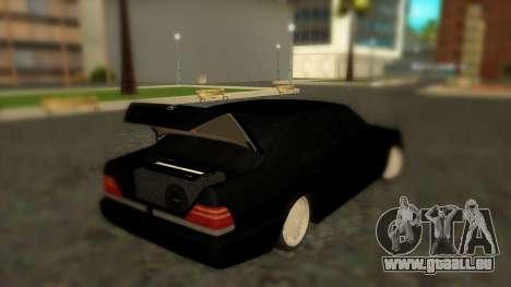 Mercedes-Benz S600 W140 AMG pour GTA San Andreas sur la vue arrière gauche
