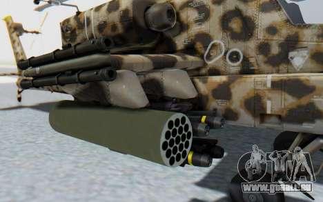 AH-64 Apache Leopard pour GTA San Andreas vue arrière