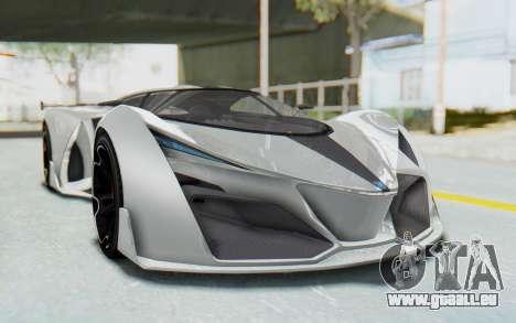 GTA 5 Grotti Prototipo v2 pour GTA San Andreas vue de droite