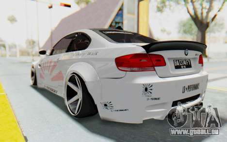 BMW M3 E92 Liberty Walk LB Performance pour GTA San Andreas laissé vue