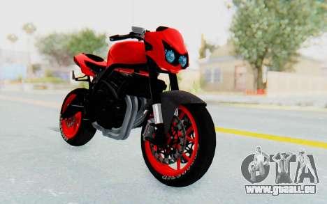 Kawasaki Ninja 250R Streetrace Naked pour GTA San Andreas