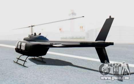 Bell 206B-III Jet Ranger Policja für GTA San Andreas linke Ansicht