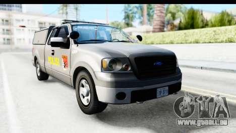Ford F-150 Indonesian Police K-9 Unit für GTA San Andreas zurück linke Ansicht