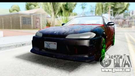 Nissan Silvia S15 Galaxy Drift v2.1 für GTA San Andreas Rückansicht