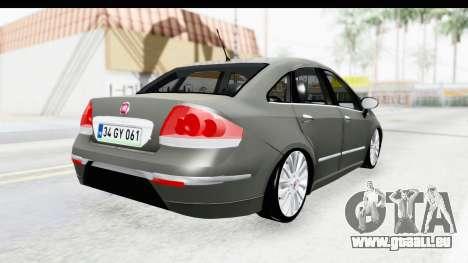 Fiat Linea 2014 für GTA San Andreas rechten Ansicht