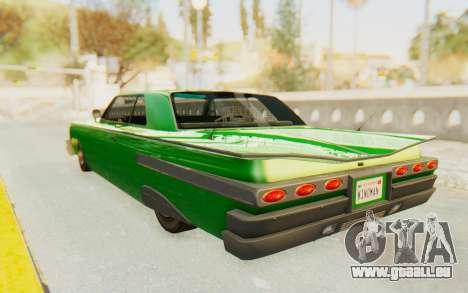 GTA 5 Declasse Voodoo SA Lights pour GTA San Andreas sur la vue arrière gauche
