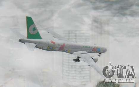 Boeing 777-300ER Eva Air v2 für GTA San Andreas linke Ansicht