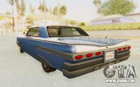 GTA 5 Declasse Voodoo Alternative v1 pour GTA San Andreas vue de droite