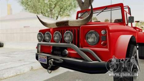 GTA 5 Canis Bodhi IVF pour GTA San Andreas vue arrière