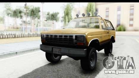 Ford Bronco 1980 IVF pour GTA San Andreas