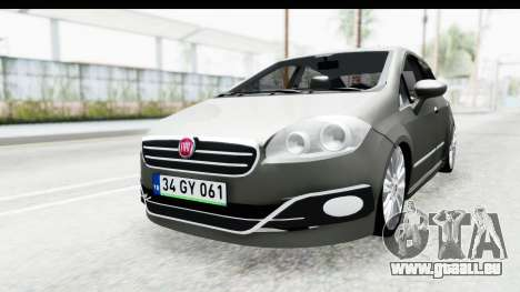 Fiat Linea 2014 für GTA San Andreas zurück linke Ansicht