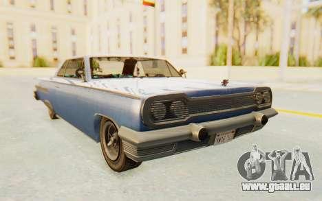 GTA 5 Declasse Voodoo Alternative v1 pour GTA San Andreas sur la vue arrière gauche