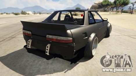 GTA 5 Nissan Silvia S13 6666 Rocket Bunny 1.7 hinten links Seitenansicht