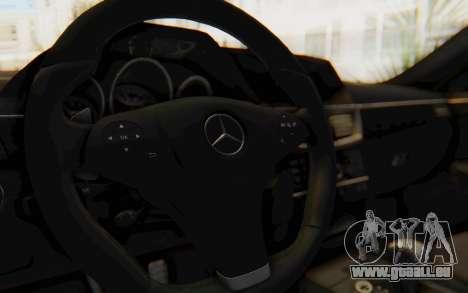 Mercedes-Benz E63 German Police Blue für GTA San Andreas Innenansicht
