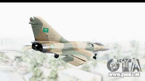 Dassault Mirage 4000 Royal Saudi Air Force pour GTA San Andreas vue de droite