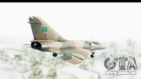 Dassault Mirage 4000 Royal Saudi Air Force für GTA San Andreas rechten Ansicht