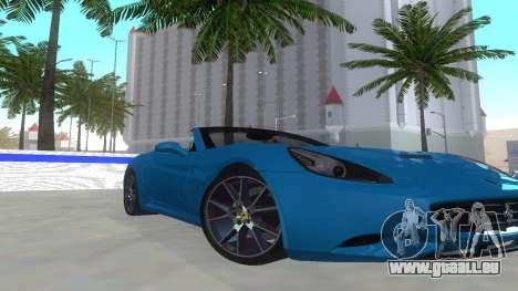 Ferrari California pour GTA San Andreas laissé vue