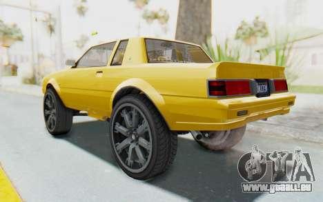 GTA 5 Willard Faction Custom Donk v1 IVF pour GTA San Andreas laissé vue