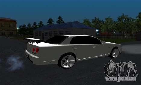 Nissan Skyline ER34 GT-R pour GTA San Andreas sur la vue arrière gauche