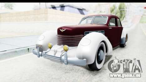 Cord 812 Charged Beverly Low Chrome für GTA San Andreas
