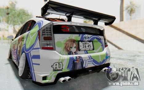 Toyota Prius Hybrid 2011 Hellaflush IF Itasha pour GTA San Andreas vue de dessous
