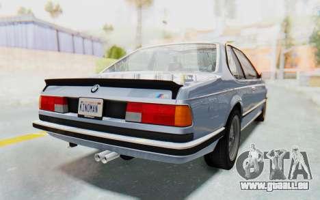 BMW M635 CSi (E24) 1984 IVF PJ1 pour GTA San Andreas laissé vue